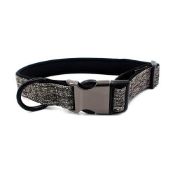 Personalized Laser Engraved Metal Buckle Canvas  Dog Collar