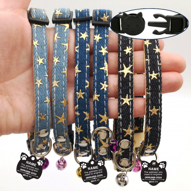 Star Cat Collar + Tag