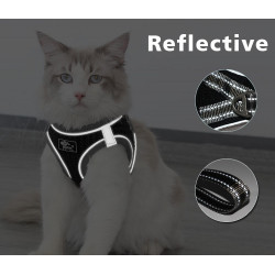 Cat Harness Reflective Adjustable Vest+ 5ft Leash