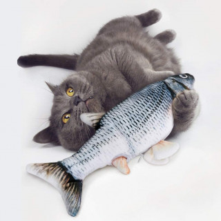 Cat Wagging Fish Electric Realistic Plush Simulation Interactive Fish Plush Toys