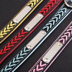 Personalized Dog Collar Braided Leather