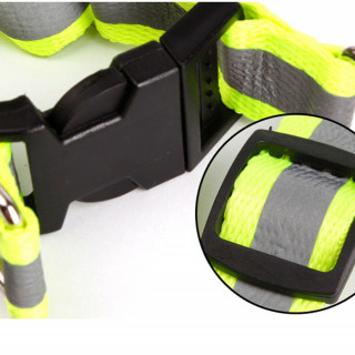 Adjustable Reflective Nylon Dog Puppy Walking Leash Rope Collar Harness